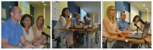 María Martín presentando escuela de familias adoptivas